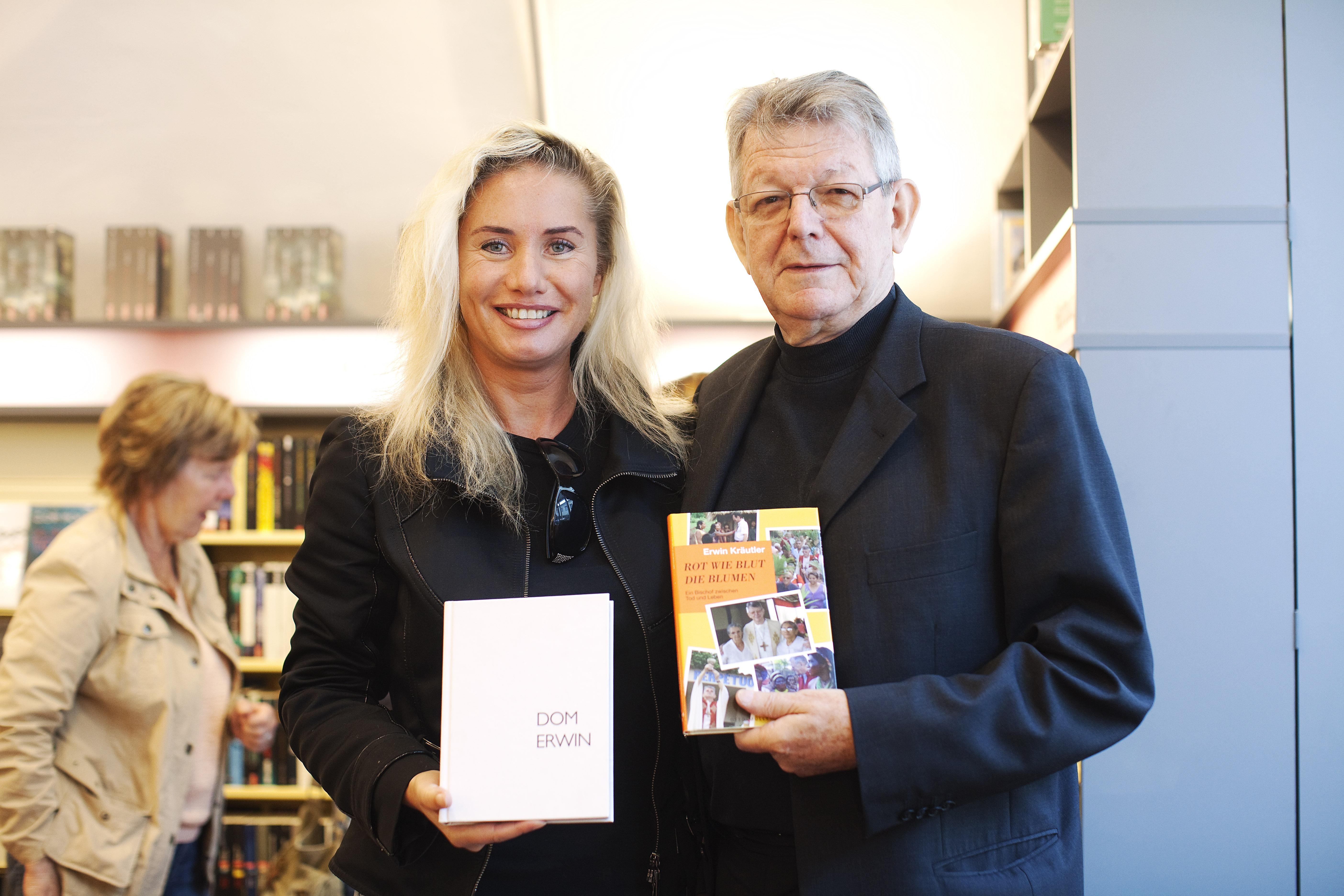 Erwin KrŠutler Buchhandlung Brunner in Bregenz eine Signierstunde