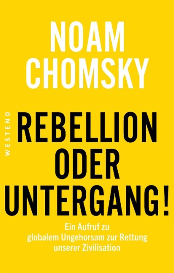 Es gibt wenig Klarheit im Augenblick. Urs Jaeggi, der kürzlich verstorbene Soziologe aus Solothurn, hat uns alle in einer «Durcheinandergesellschaft» verortet. Schon 1985 hatte Jürgen Habermas, der Grossmeister der deutschsprachigen Sozialwissenschaften, von der «Neuen Unübersichtlichkeit» geschrieben. Noam Chomsky – amerikanischer Philosoph und Autor aufrüttelnder Bestseller – will sich mit solcher Sozialdiagnose nicht begnügen; sie ist ihm zu brav, weil er unsere Situation viel dramatischer sieht. Für ihn ist die Alternative jetzt: «Rebellion oder Untergang!» Mit Ausrufezeichen, wohlgemerkt. Für Chomsky sind wir doppelt bedroht: von der Möglichkeit der atomaren Zerstörung und von der wachsenden Wahrscheinlichkeit der Klimakatastrophe. Als dritte Gefahr fügt er hinzu: «die Aushöhlung und Schwächung der Demokratie». Sein Text ist bildhaft und eindringlich; eine spannende Mischung aus Essay, Vortrag und Interview.  Von Walter Hollstein (www.walter-hollstein.ch, erschienen am 7. April 2021 in der Weltwoche)
