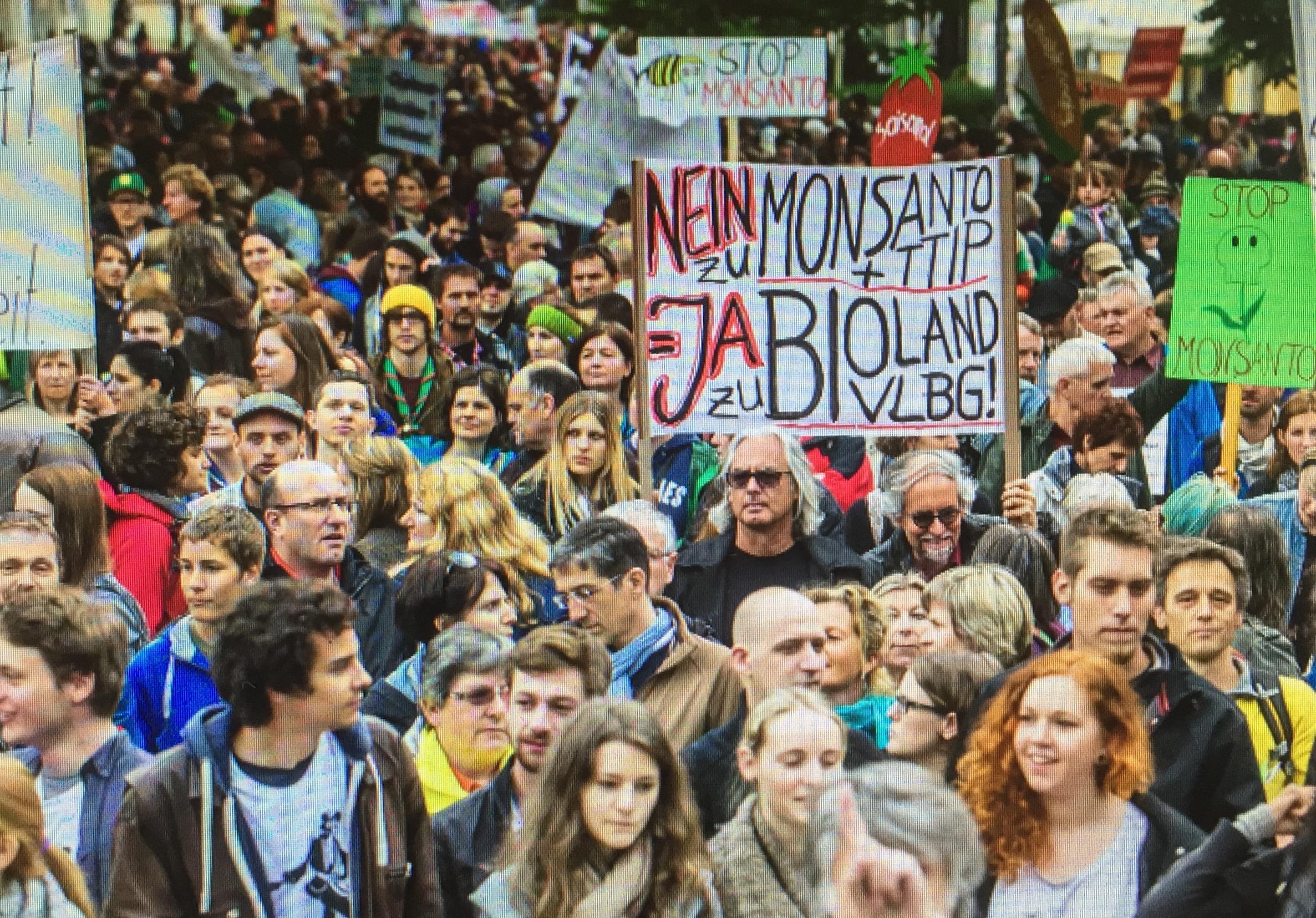 March against Monsanto am 20. Mai 2017 in Bregenz Vorarlberg für ein gutes Leben für alle und ein ökologisch-soziales und friedvolles Europa