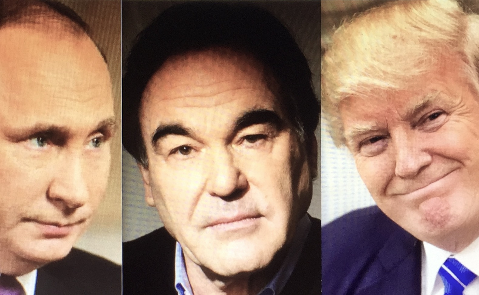 """Im Gegensatz zu Oliver Stone hat Wladimir Putin trotz Donald Trumps Hüftschuss auf Syrien eine mögliche konstruktive Gesprächsbasis und Zusammenarbeit noch nicht aufgegeben. Stone will mit seiner Doku """"Interviews mit Putin"""" den US-Amerikanern sie Sichtweise des russischen Präsidenten näherbringen."""