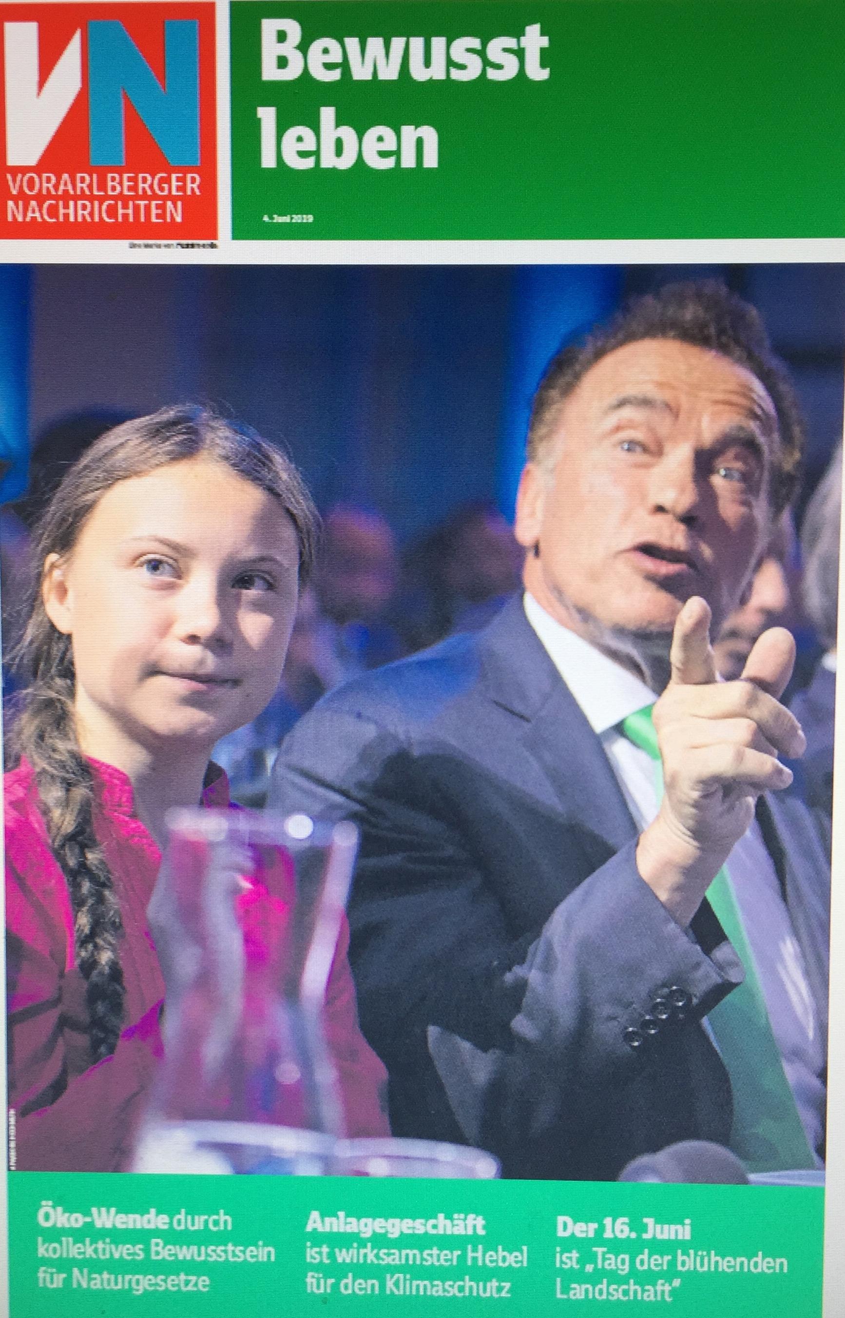 """VN-Extra-Ausgabe """"Bewusst leben"""" vom 4. Juni 2019 von Verena Daum, Projektleitung """"Klimaschutzpreis"""" der Vorarlberger Nachrichten, www.progression.at, www.garden-eden.org"""
