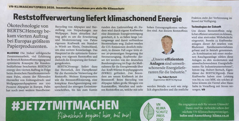 """""""Unsere effizienten Anlagen sind umweltschonende Energielieferanten für die Industrie"""", betont CEO Ing. Hubert Bertsch, Eigentümer der BERTSCHgroup, www.bertsch.at; www.progression.at Verena Daum."""