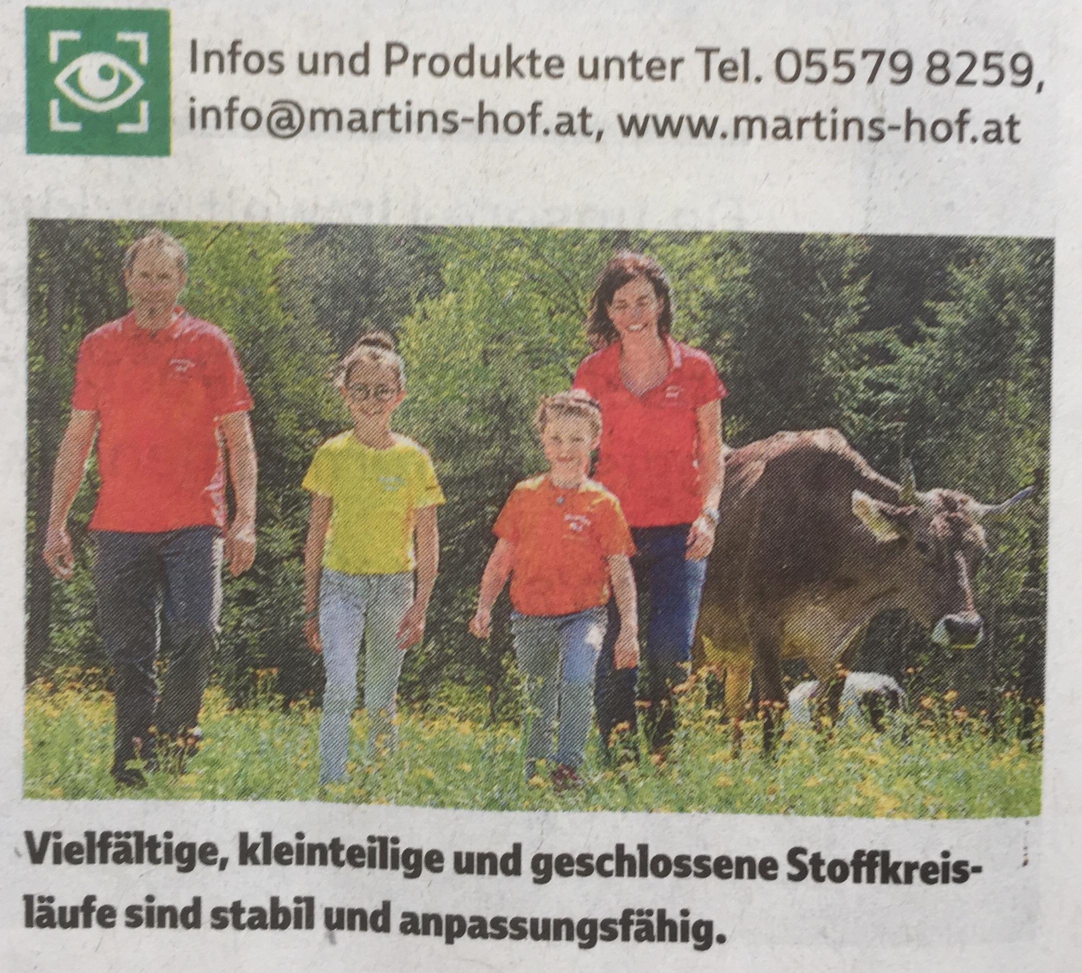 Familie Martin Buch/Vorarlberg www.martins-hof.at, Verena Daum www.progression.at
