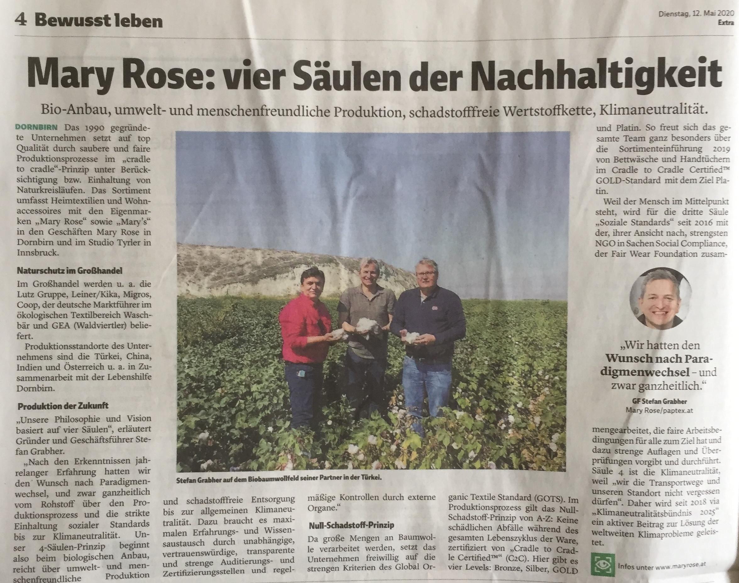"""Mary Rose/Tyrler/Paptex-GF Stefan Grabher: """"Wir hatten den Wunsch nach Paradigmenwechsel - und zwar ganzheitlich!"""" www.mary-rose.at, Verena Daum www.progression.at"""