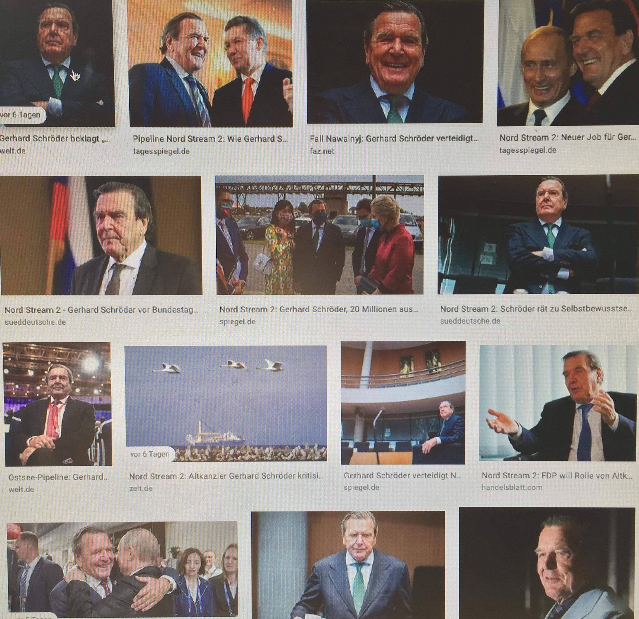 """Alt-Kanzler Gerhard Schröder: wer glaubt, Russland unter Druck setzen zu können, der irrt. Das leidige Russland-Bashing müsse beendet werden. Deutschland müsse vielmehr ehrliches Interesse daran haben, Russland als Partner zu erhalten. Wenn die EU eine internationale Rolle spielen möchte mit den USA auf der einen und China auf der anderen Seite, dann geht das nur mit Russland als Partner an ihrer Seite. Ganz egal, was innenpolitisch passiert - """"ob es uns gefällt oder nicht"""". Zur Erinnerung: UNO-Charta 1945 (Kapitel 1, Artikel 2, Absatz 4): """"Alle Mitglieder unterlassen in ihren internationalen Beziehungen jede gegen die territoriale Unversehrtheit oder die politische Unabhängigkeit eines Staates gerichtete oder sonst mit den Zielen der Vereinten Nationen unvereinbare Androhung oder Anwendung von Gewalt."""" Dazu zählen von außen geschürte Farbrevolutionen, Putsche, Regime Change-Wars, NATO-Osterweiterung, Sanktionen und Angriffskriege ohne UN-Mandat. (www.progression.at)"""