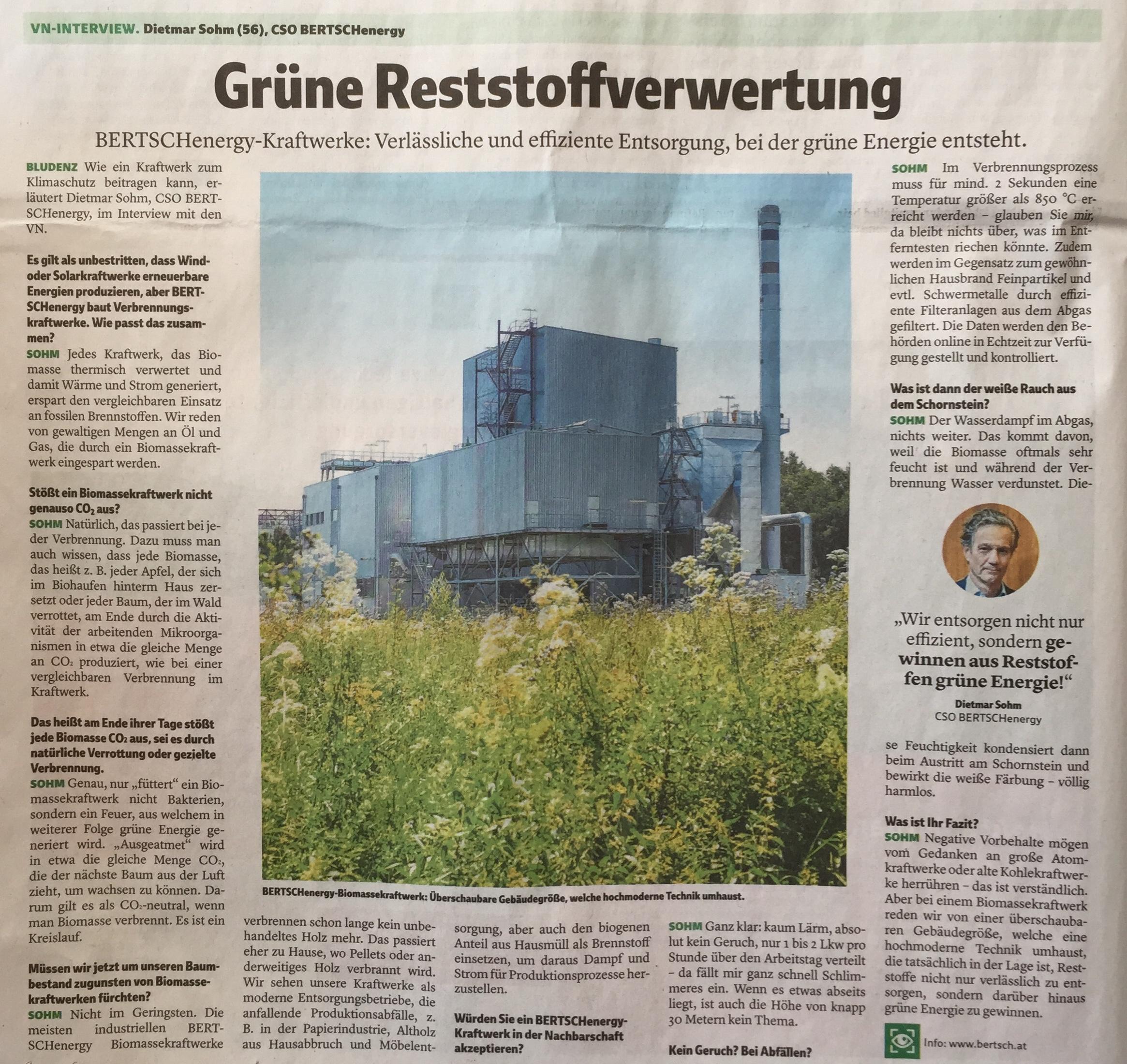 BERTSCHenergy-Kraftwerke stehen für effiziente Reststoffverwertung bei der grüne Energie entsteht, www.bertsch.at