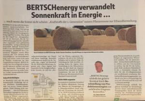 """Auch in der Bioethanolherstellung """"schließt BERTSCHenergy den grünen Kreislauf durch Bereitstellung von Produktionsenergien aus anfallenden biogenen Reststoffen"""", sagt BERTSCHgroup CEO Ing. Hubert Bertsch, www.bertsch.at; by Verena Daum, Vorarlberger Nachrichten, www.progression.at"""
